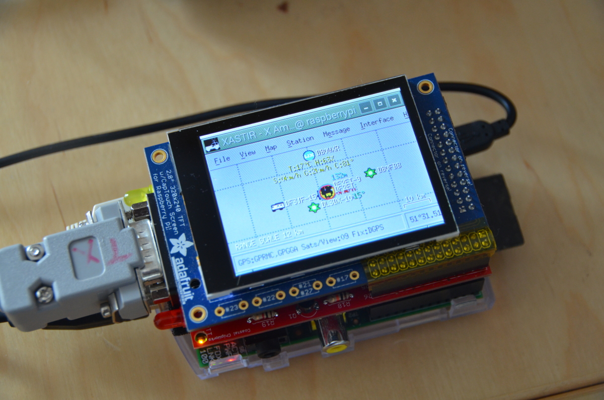 Portable APRS Client on Raspberry Pi With Touchscreen