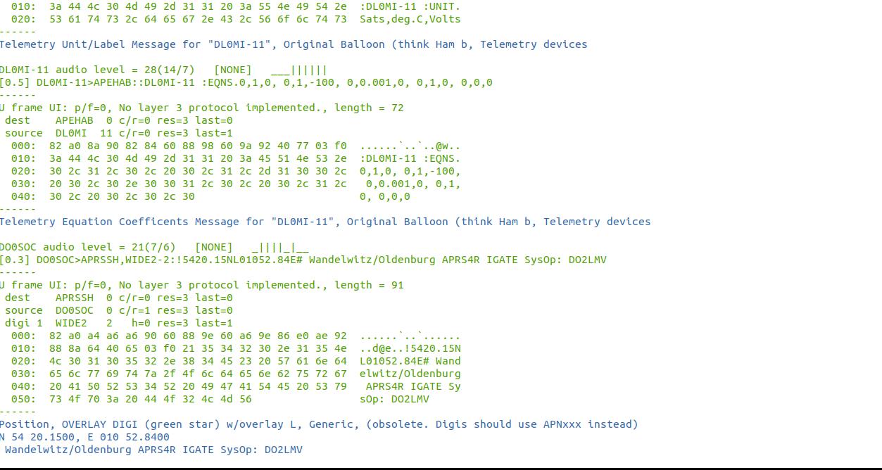 Postmortem Decoding of SSTV/APRS - Notizbl0g
